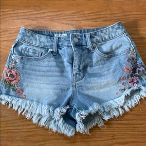 Mossimo supply floral flower denim shorts 00 24